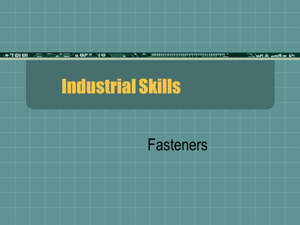 Fasteners are used in manufactured products for several basic purposes:  They simplify manufacture.