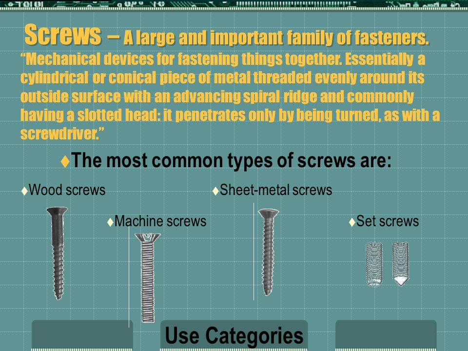 Bolts, Cap Screws, Nuts & Washers  Nomenclature of bolt-type fasteners tends to be confusing.