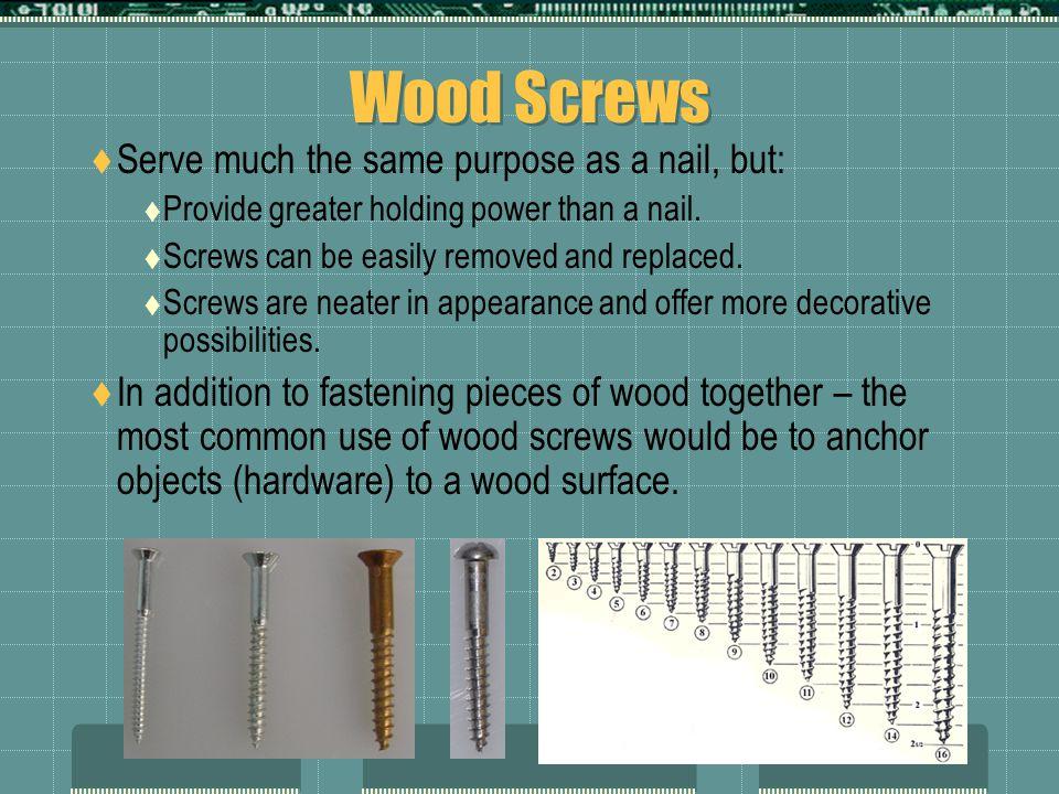 Sheet-Metal Screws  Also called Tapping Screws or Self-Threading Screws .