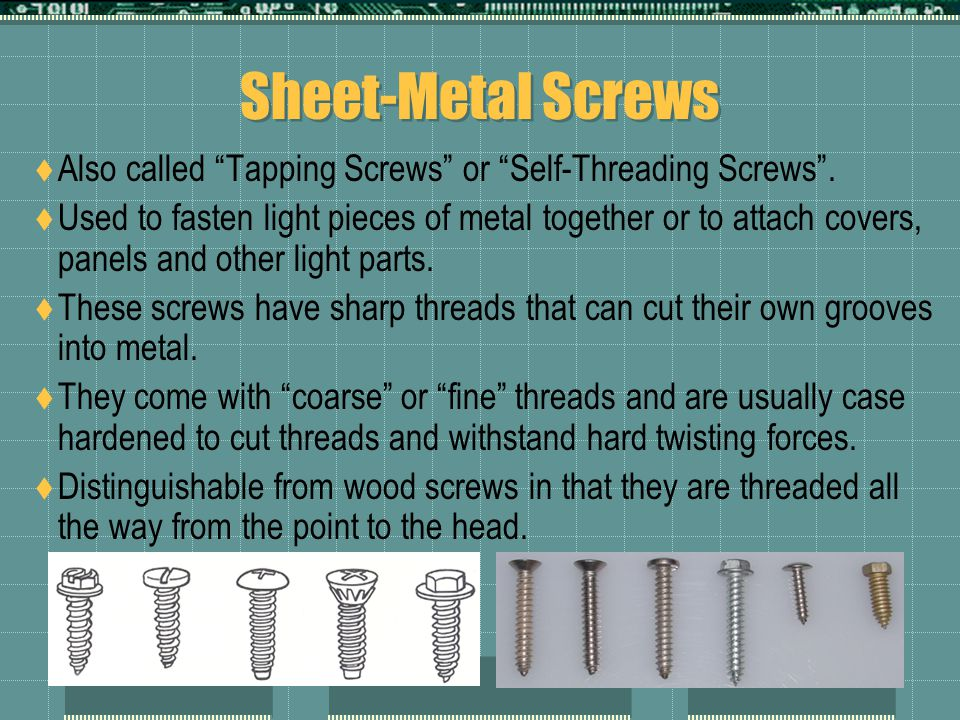 Grades and Head Markings - Metric  The kind of steel bolts and screws are made of and the treatment they receive during manufacture determine their strength.