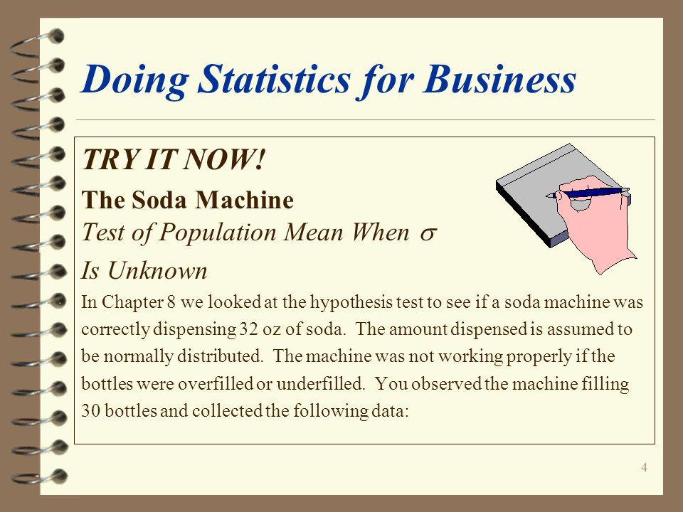 25 Doing Statistics for Business KaddStat Dialog Box