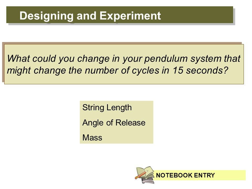 A variable is anything that you can change in an experiment that might affect the outcome.