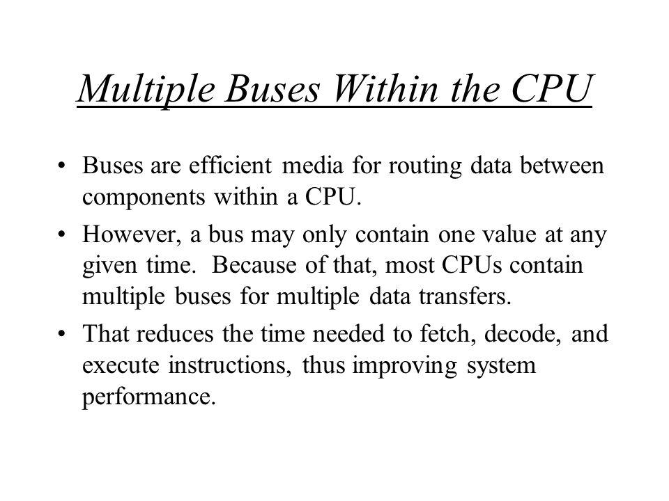 Diagram of Simple CPU using multiple buses