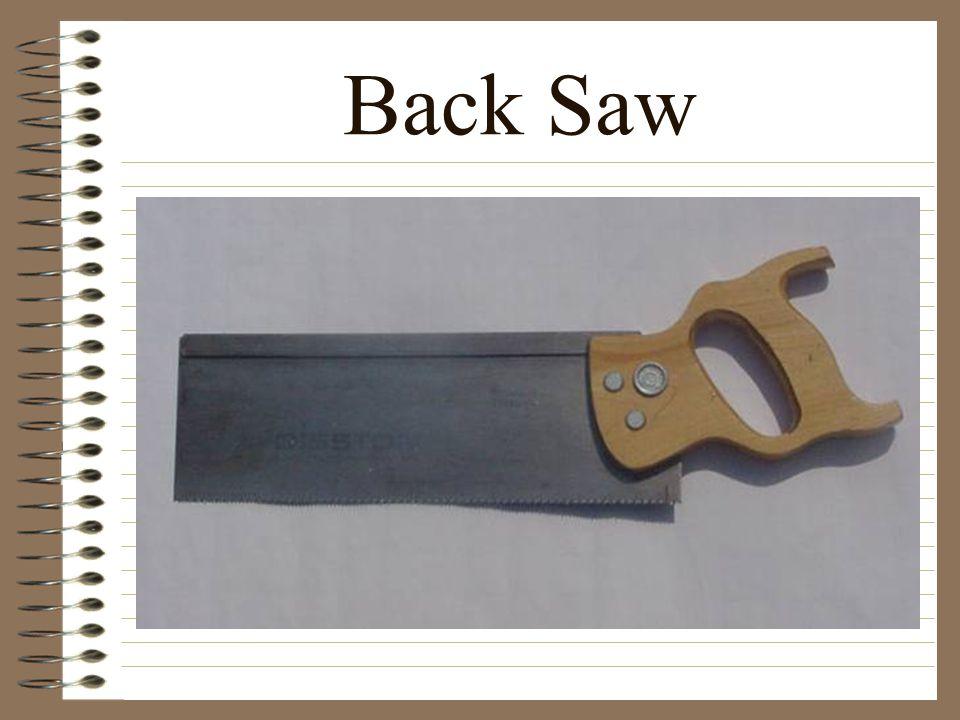Back Saw
