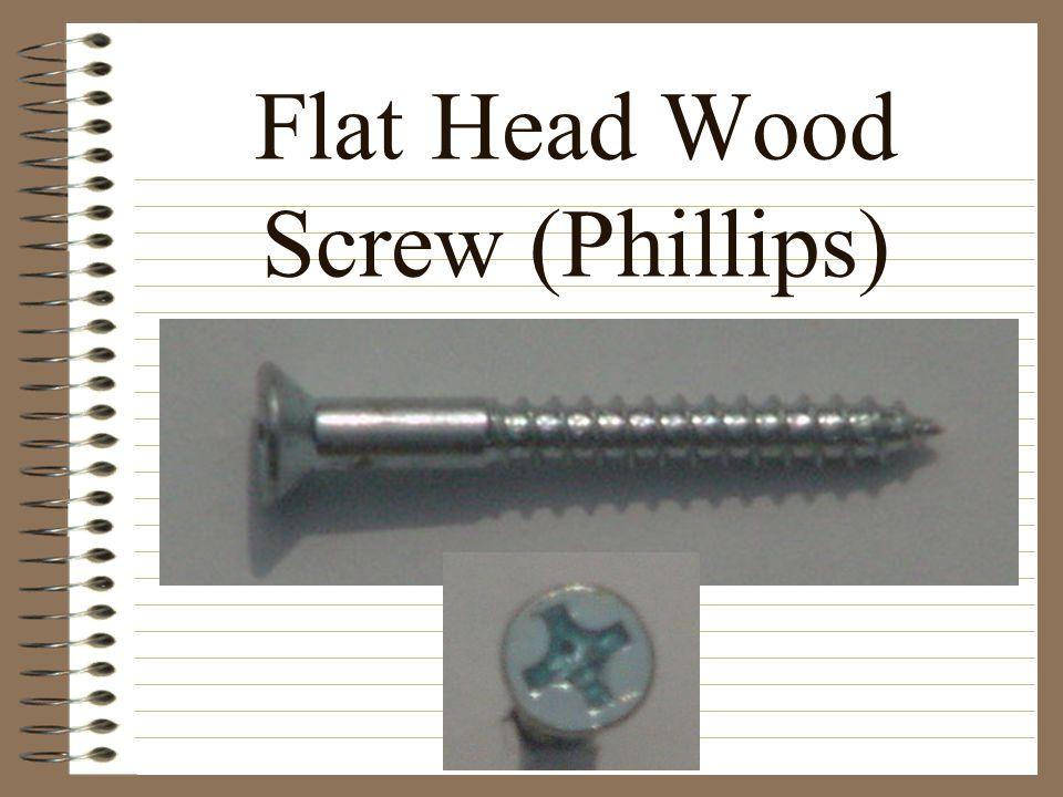 Flat Head Wood Screw (Phillips)