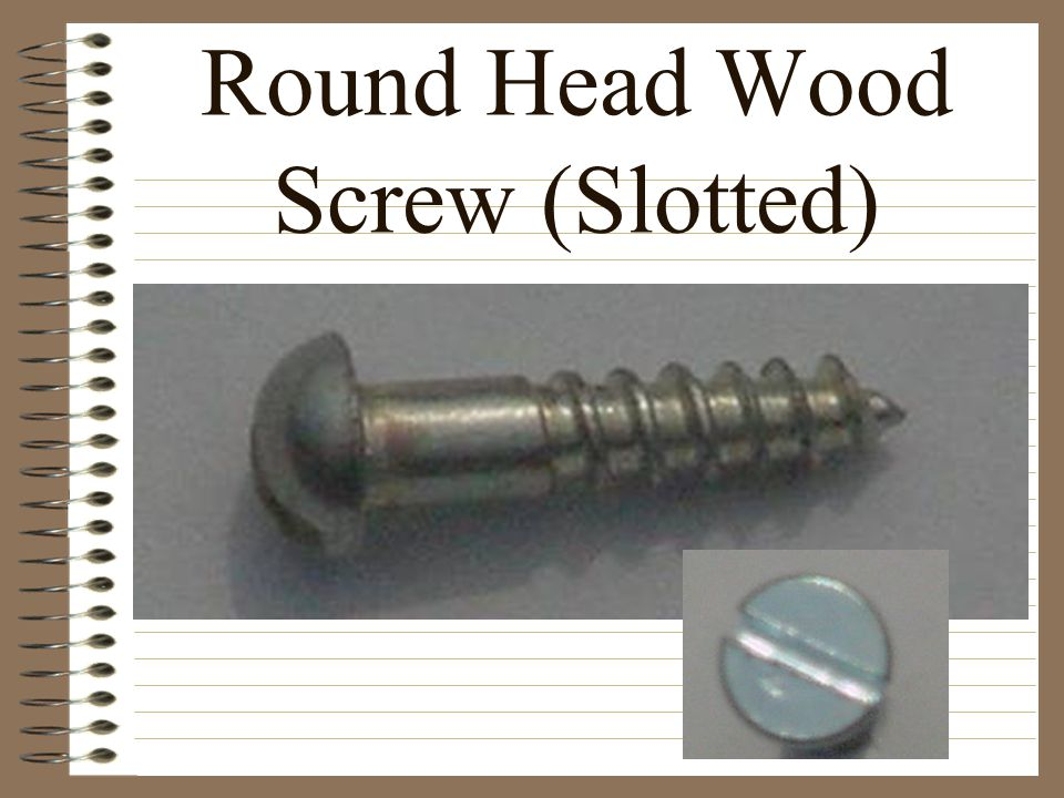 Round Head Wood Screw (Slotted)