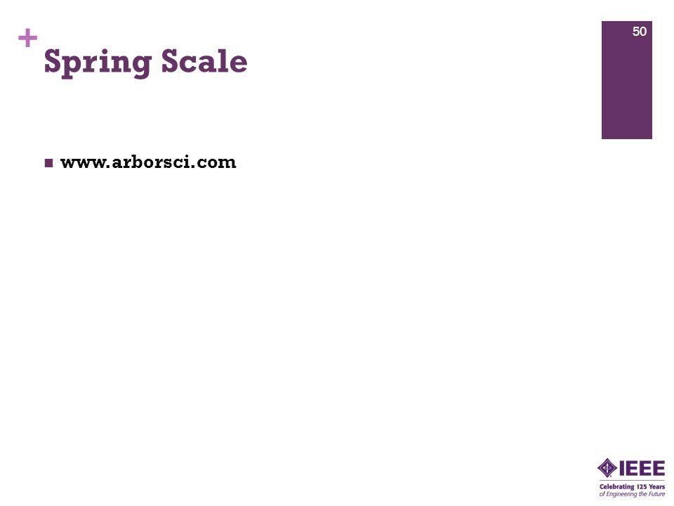 + Spring Scale www.arborsci.com 50