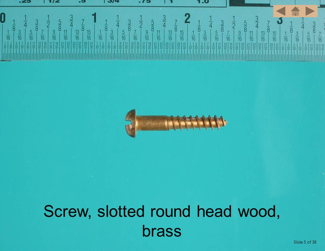Screw, slotted round head wood Slide 6 of 38