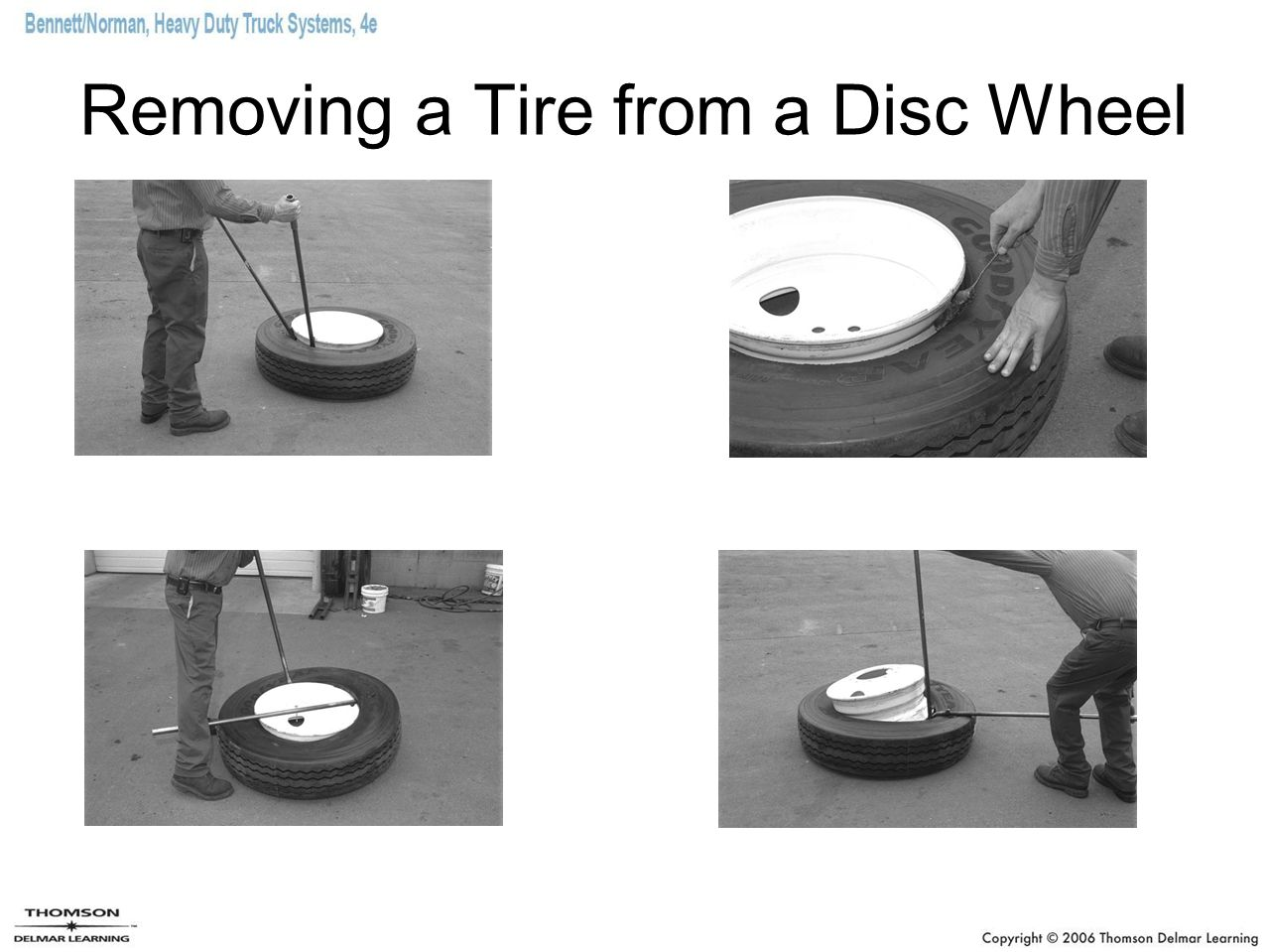 Removing a Tire from a Disc Wheel