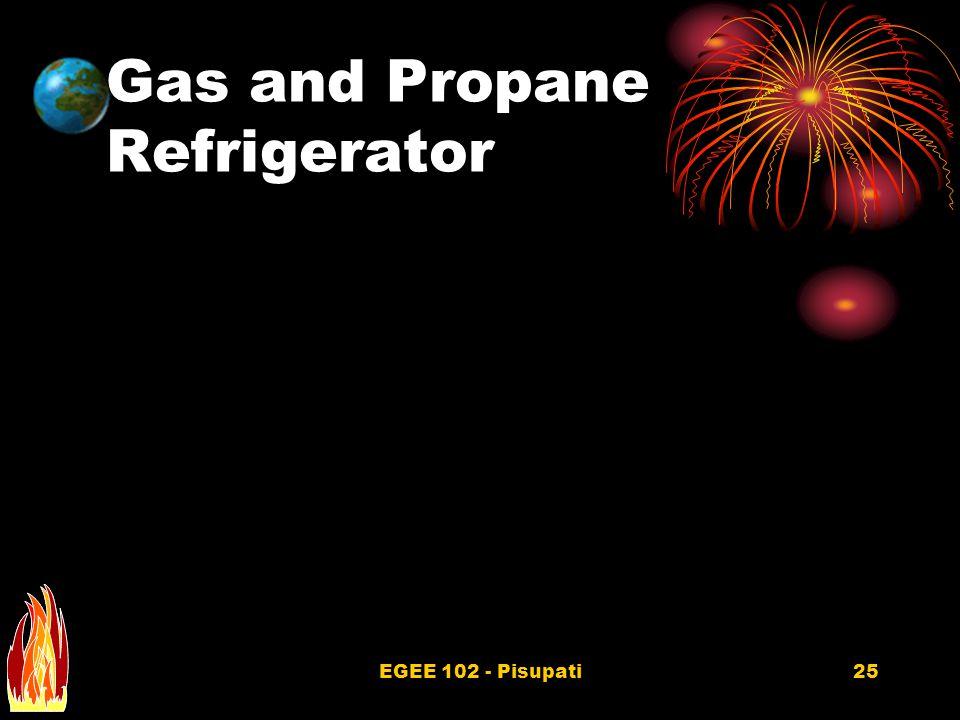 EGEE 102 - Pisupati25 Gas and Propane Refrigerator