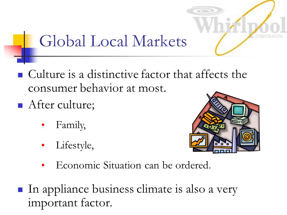 Global Local Markets Culture is a distinctive factor that affects the consumer behavior at most.