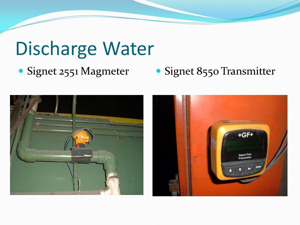 Discharge Water Signet 2551 Magmeter Signet 8550 Transmitter