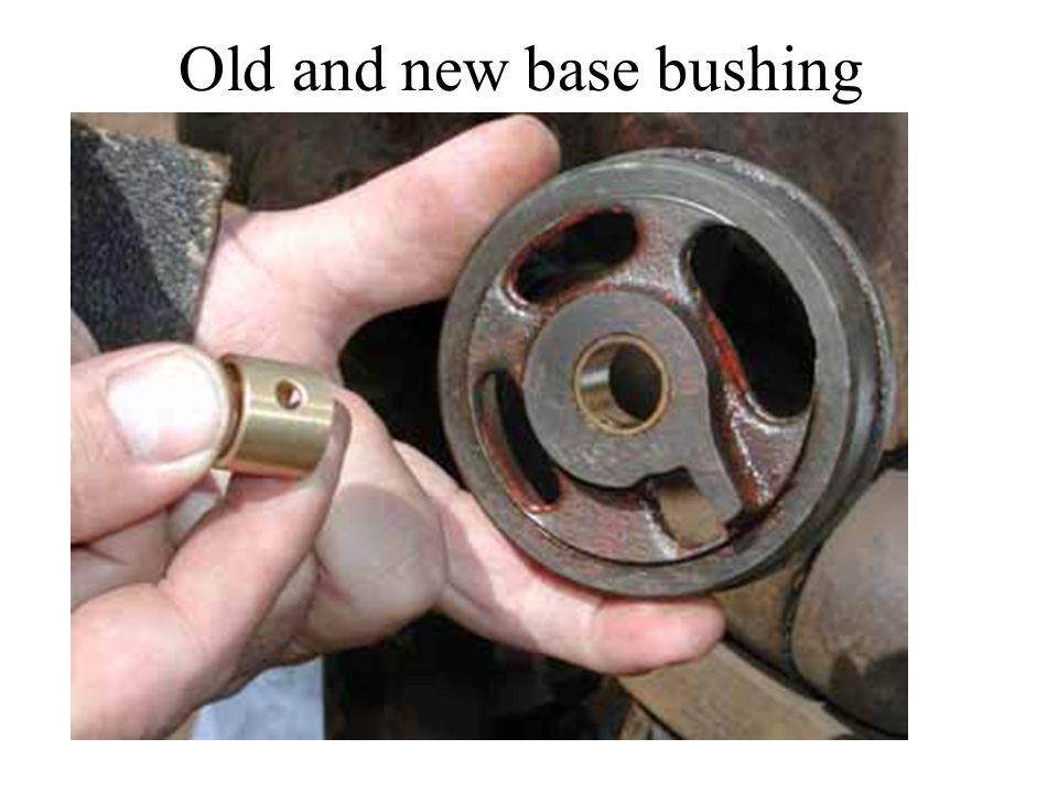 Old and new base bushing