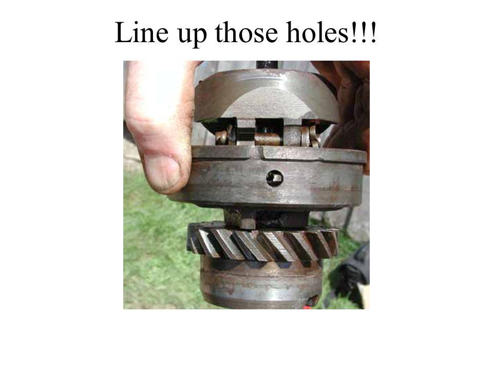 Line up those holes!!!