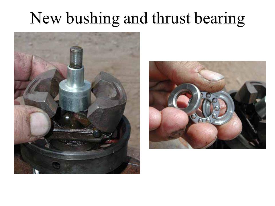 New bushing and thrust bearing