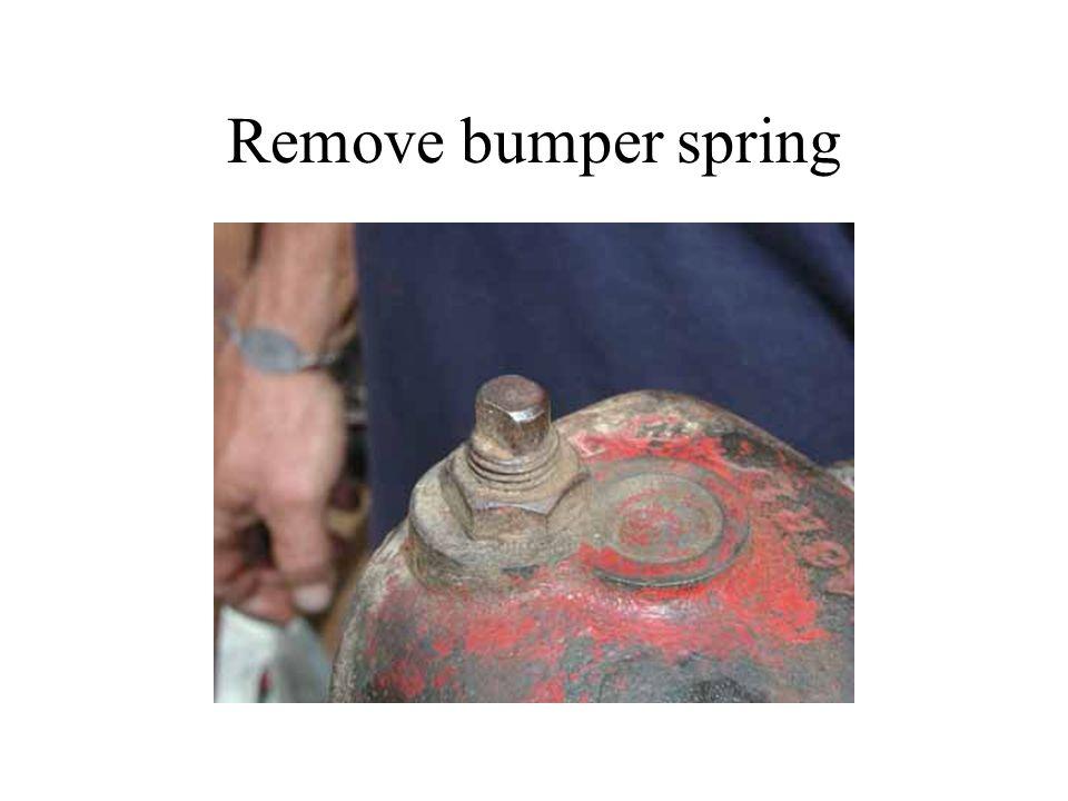 Remove bumper spring