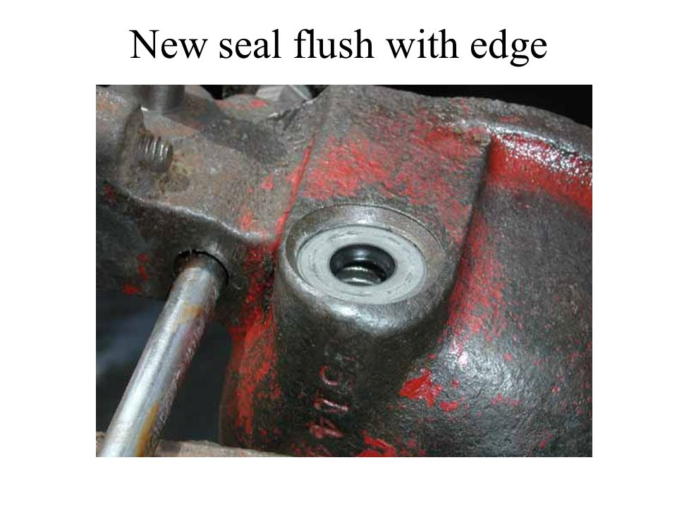 New seal flush with edge