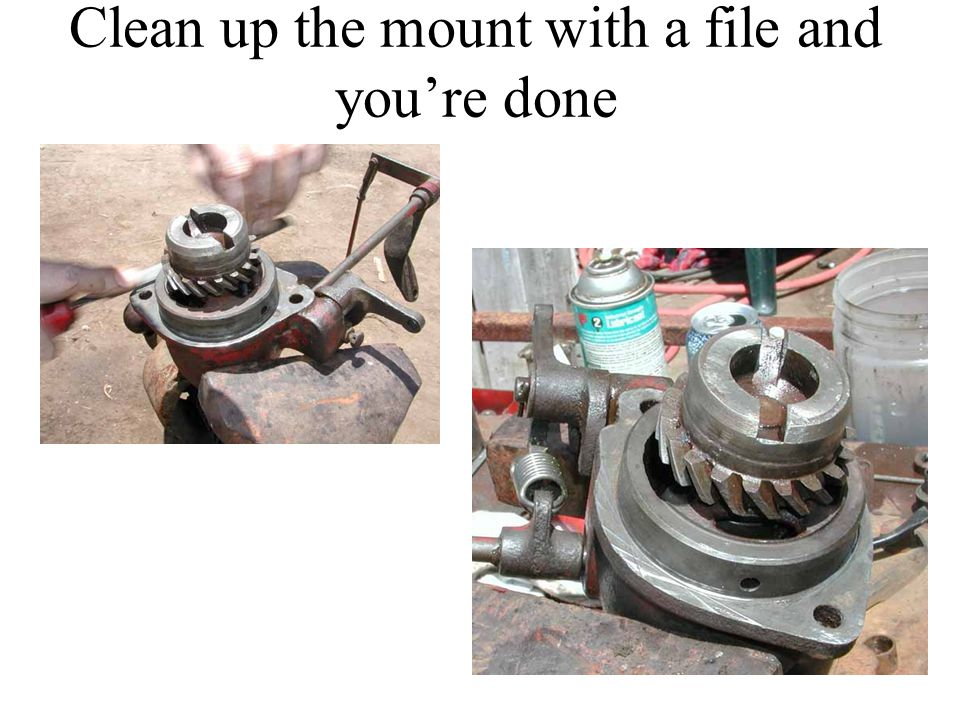 Clean up the mount with a file and you're done