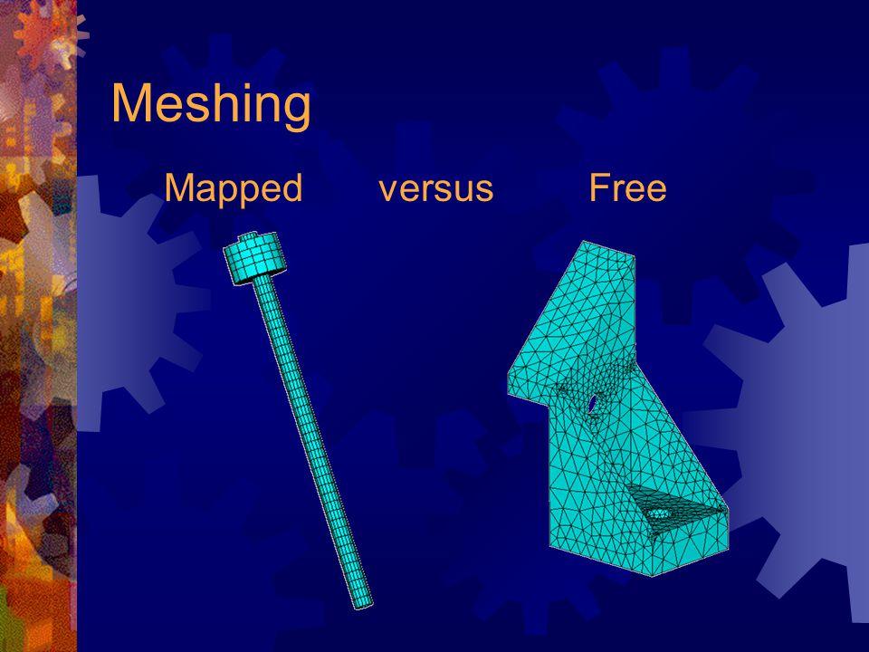 Meshing Mapped versus Free
