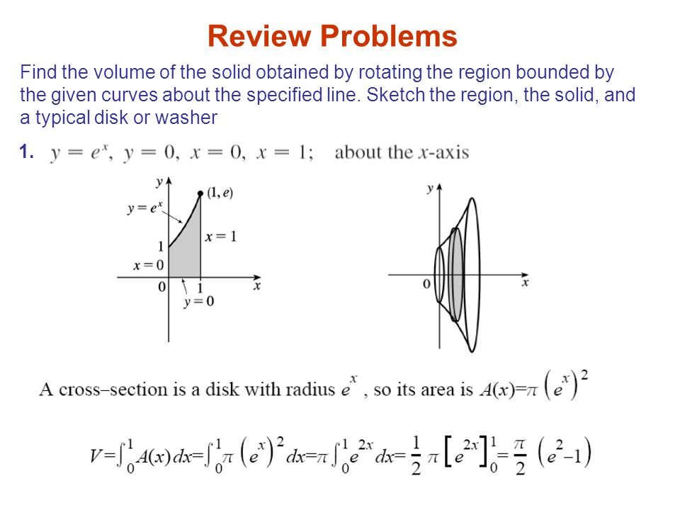 Find the volume of the solid obtained by rotating the region bounded by the given curves about the specified line. Sketch the region, the solid, and a