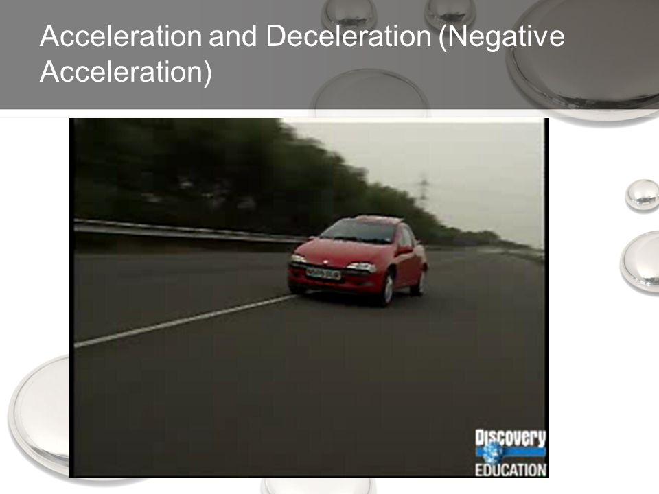Acceleration and Deceleration (Negative Acceleration)
