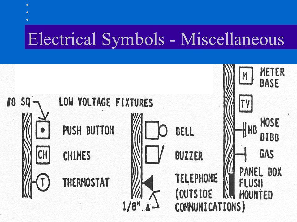 Electrical Symbols - Miscellaneous