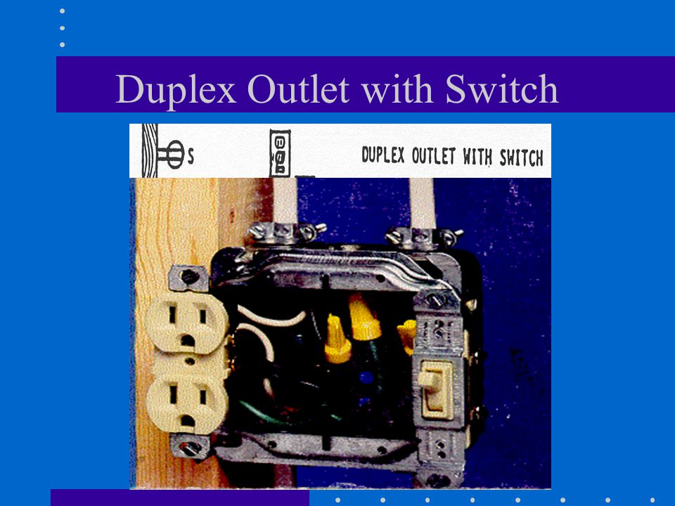 Duplex Outlet with Switch