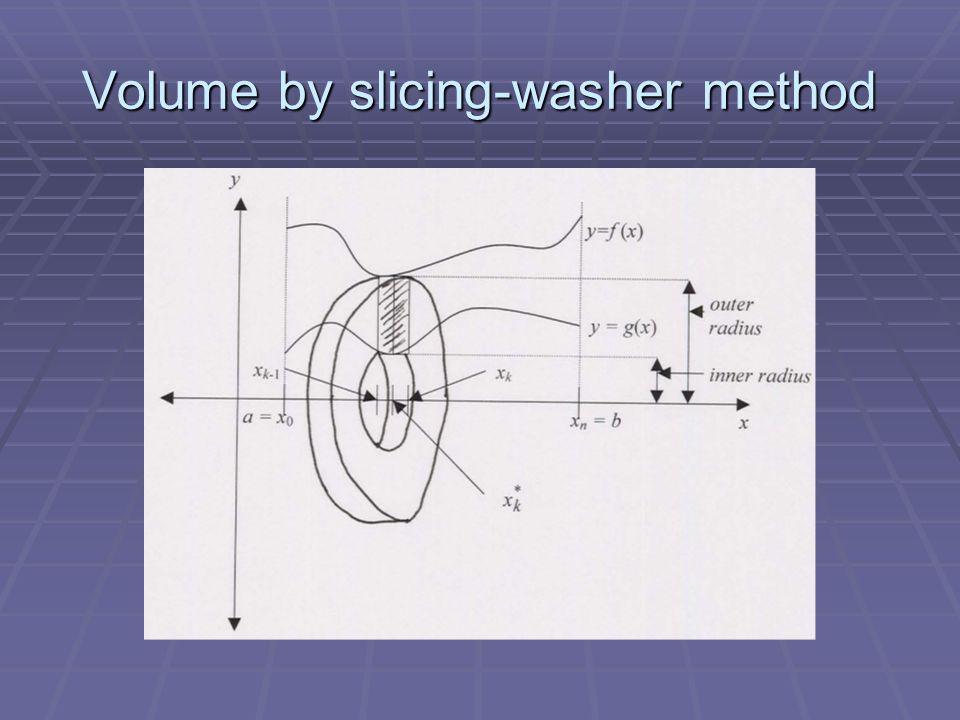 Volume by slicing-washer method