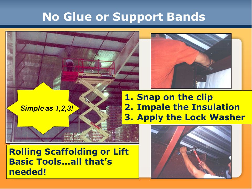 No Glue or Support Bands Simple as 1,2,3.