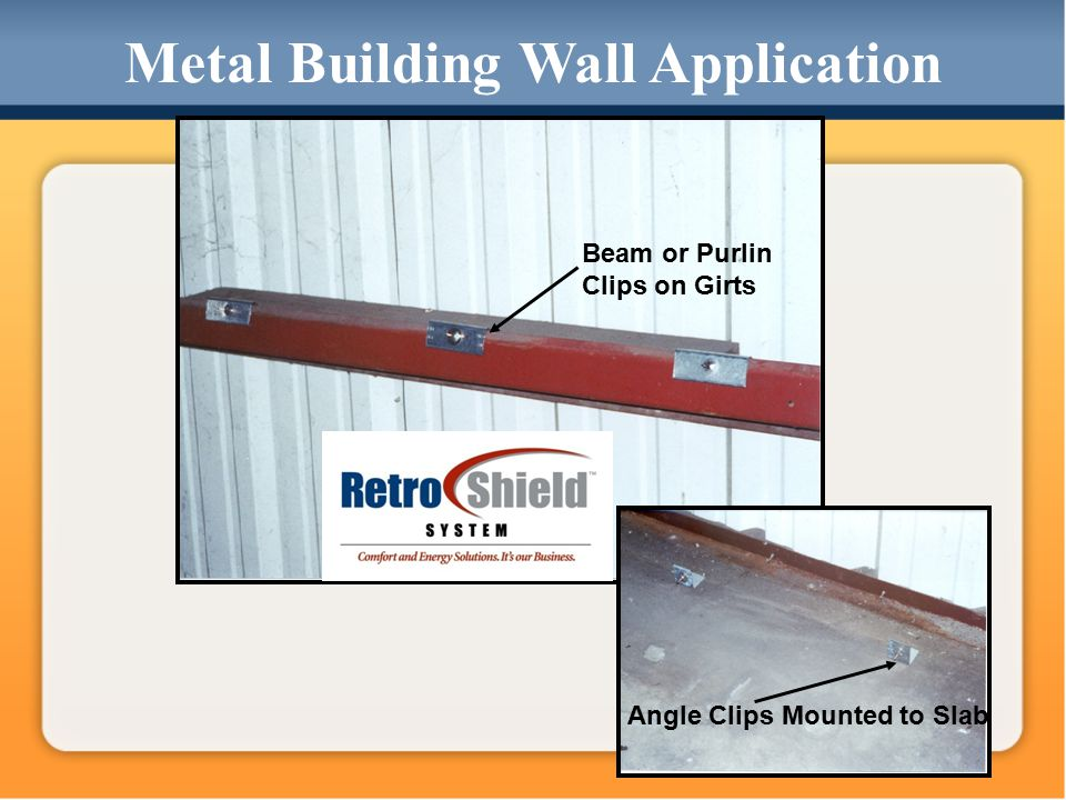 Angle Clips Mounted to Slab Beam or Purlin Clips on Girts Metal Building Wall Application