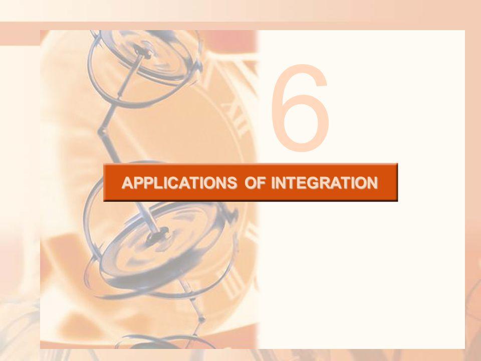 APPLICATIONS OF INTEGRATION 6