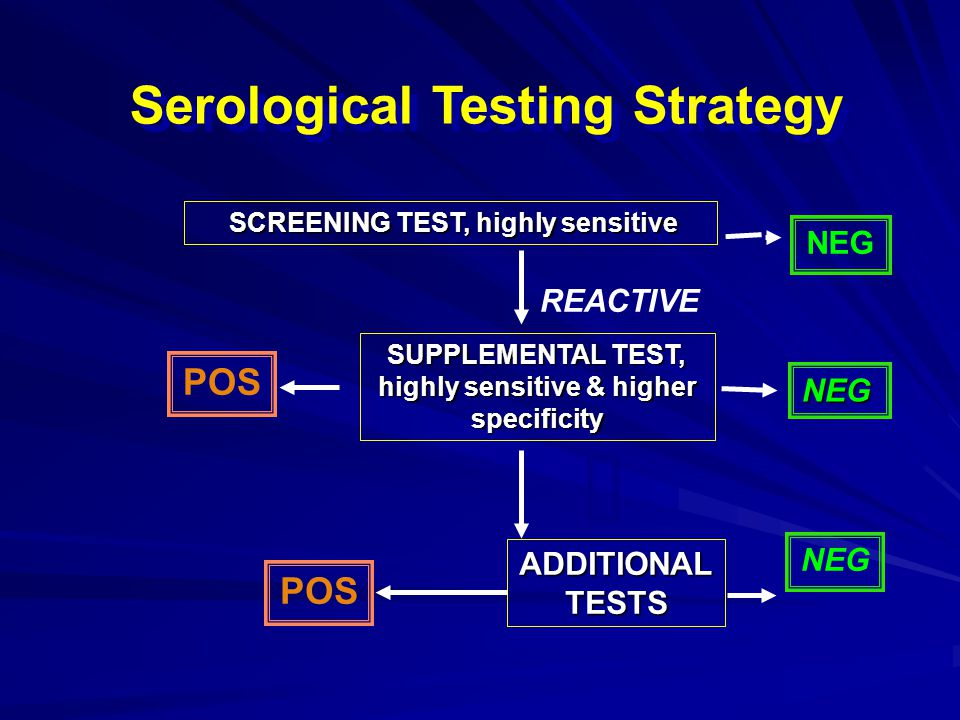 POINT OF REPORTING NEG HIV1/2 SCREEN POS HIV-1 WB ADDITIONAL TESTS REACTIVE NEG POS HIV Testing Strategy SCREENING SUPPLEMENTAL