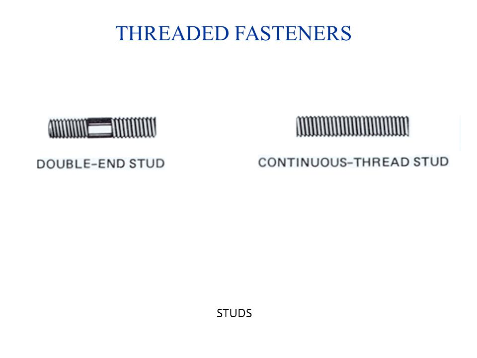 THREADED FASTENERS STUDS