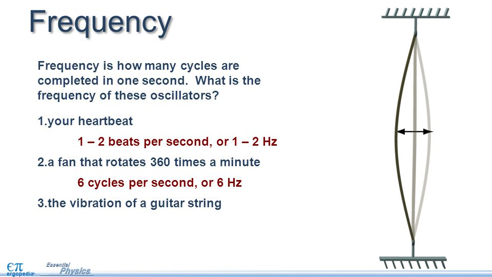 Frequency Frequency is how many cycles are completed in one second.