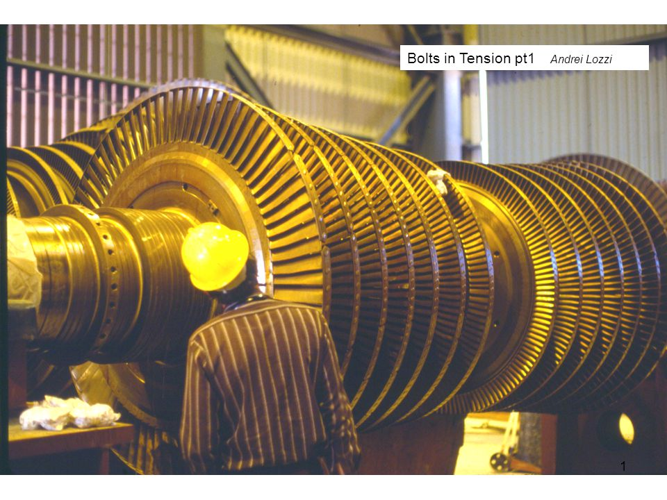 The flanges at the end of the two turbine shafts seen above, are bolted together to form a very rigid friction coupling 2