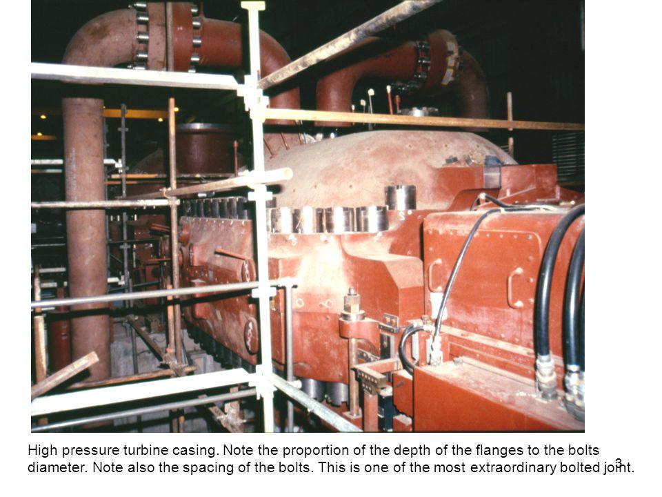 High pressure turbine casing.