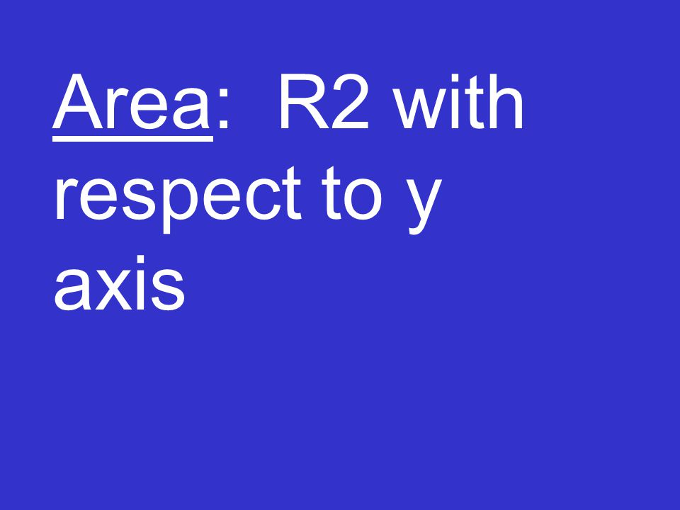 Area: R2 with respect to y axis