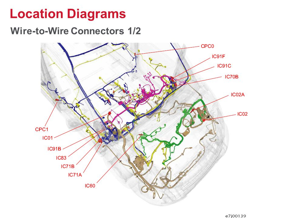 Wire-to-Wire Connectors 1/2 Location Diagrams 28