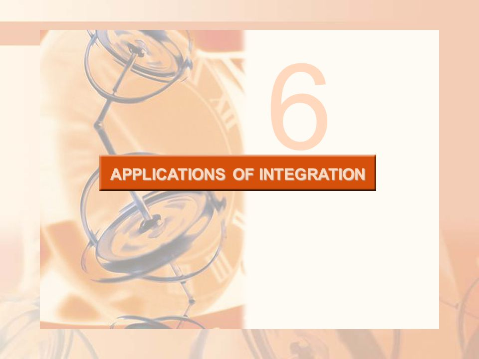 6.2 Volumes APPLICATIONS OF INTEGRATION In this section, we will learn about: Using integration to find out the volume of a solid.