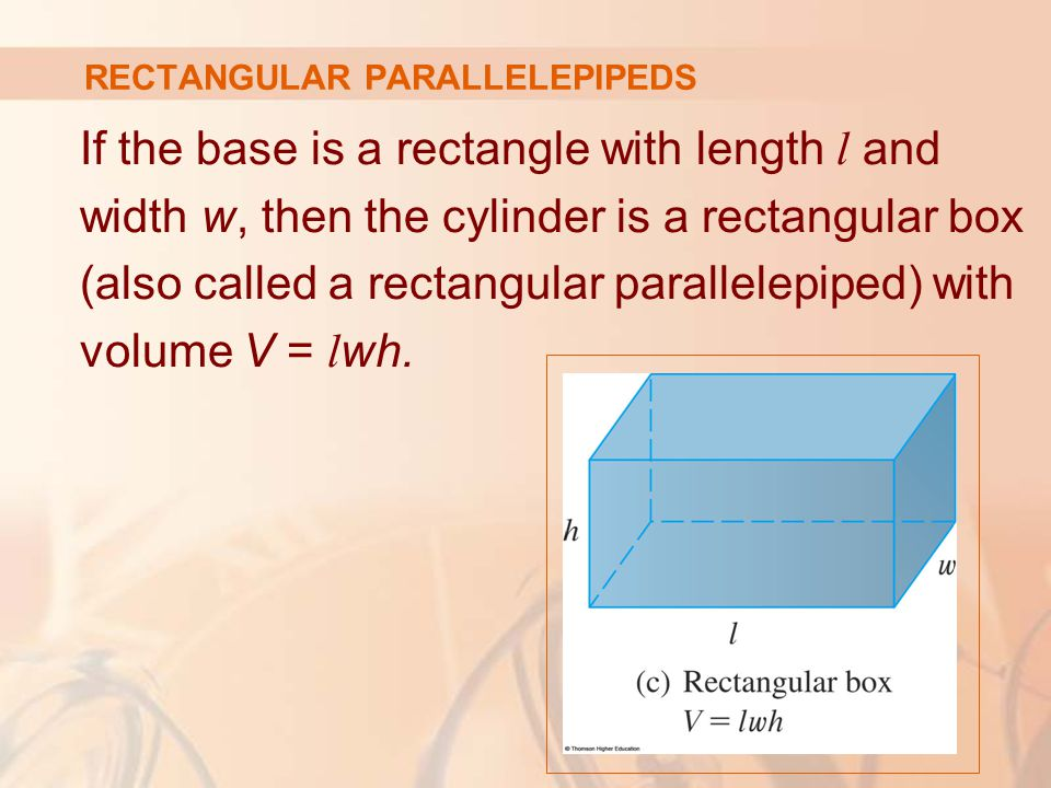 For a solid S that isn't a cylinder, we first 'cut' S into pieces and approximate each piece by a cylinder.