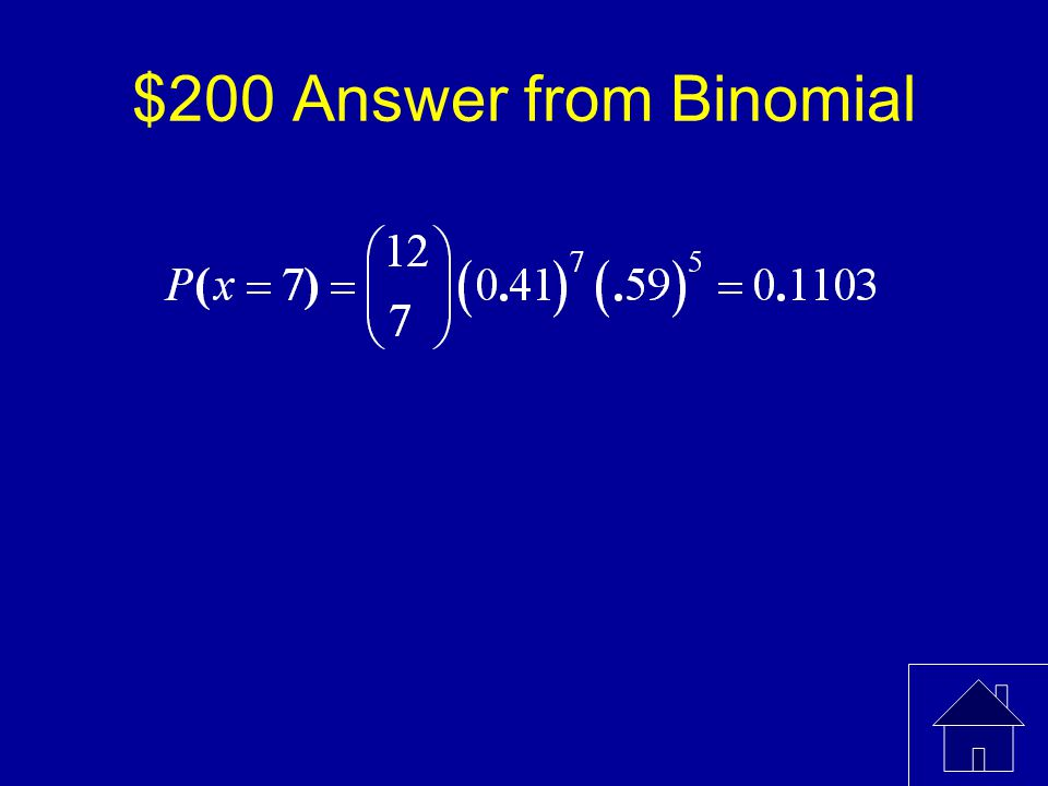 $200 Question from Binomial A survey found that 41% of women in the U.S.