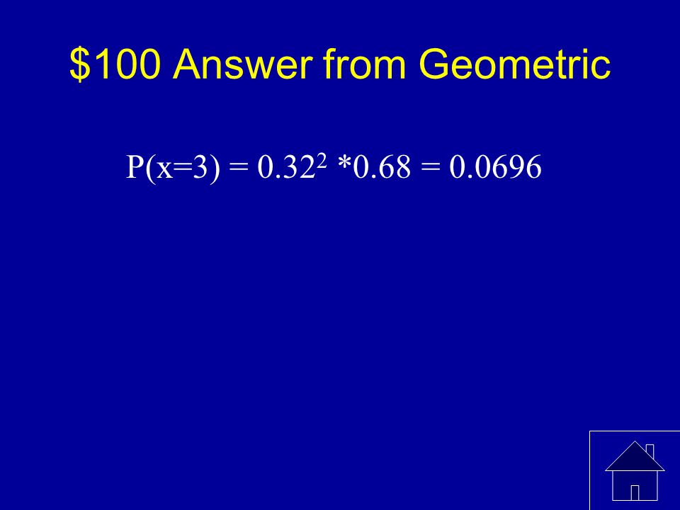 $100 Question from Geometric The probability that a student passes the written test for a private pilot's license is 0.68.