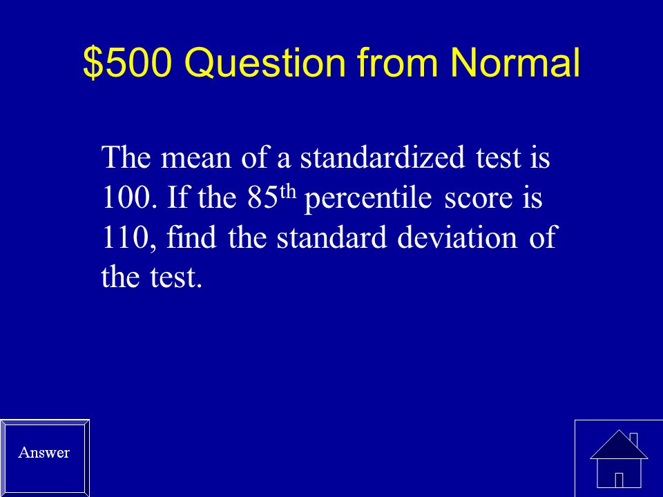 $400 Answer from Normal
