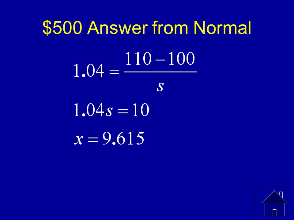 $500 Question from Normal The mean of a standardized test is 100.
