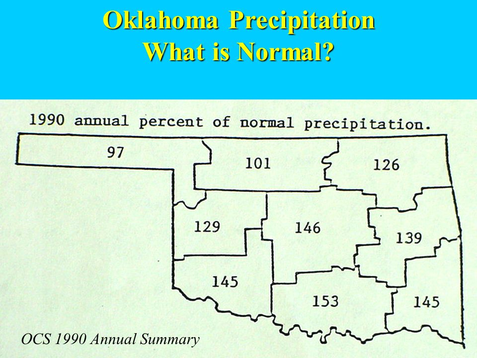 Oklahoma Precipitation What is Normal OCS 1990 Annual Summary