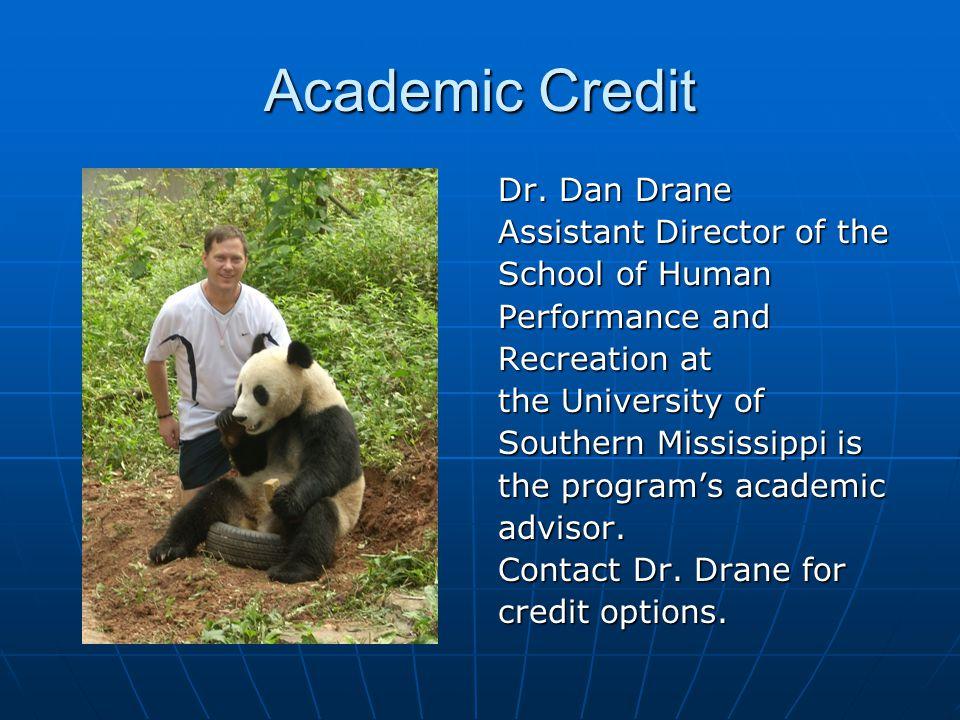 Academic Credit Dr.