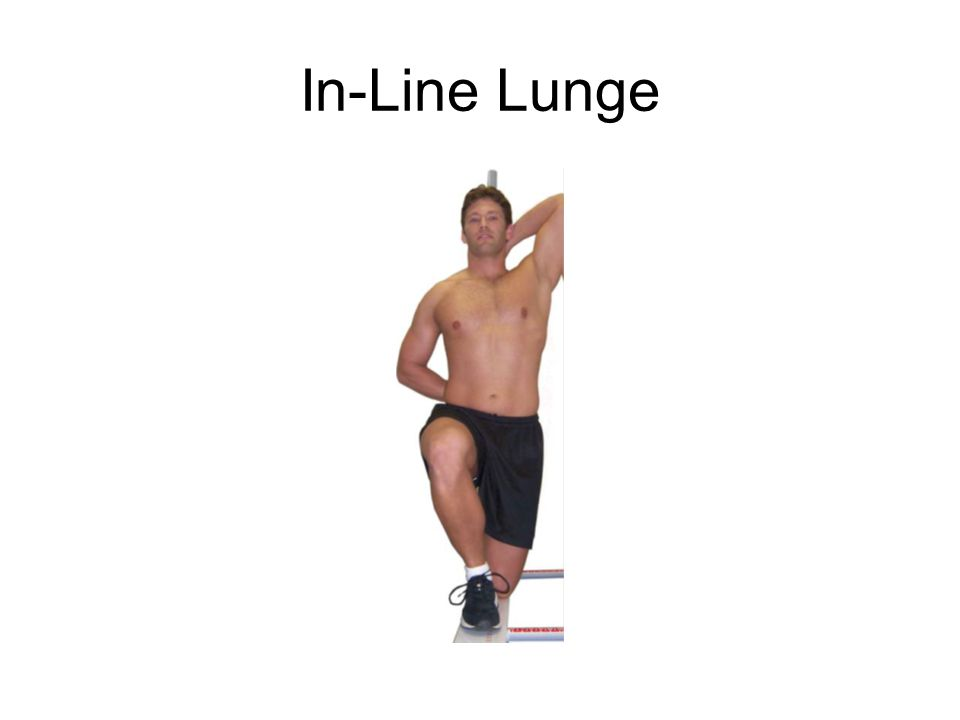 In-Line Lunge