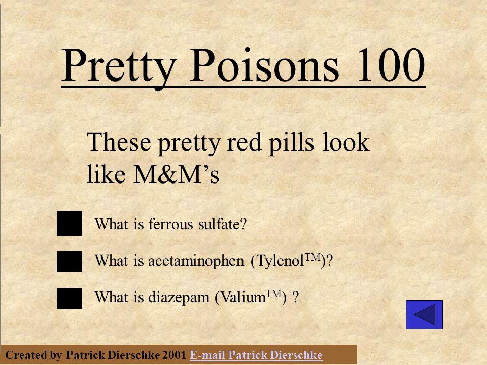 Created by Patrick Dierschke 2001 E-mail Patrick DierschkeE-mail Patrick Dierschke First Aid for Poisoning 300 Neutralize.