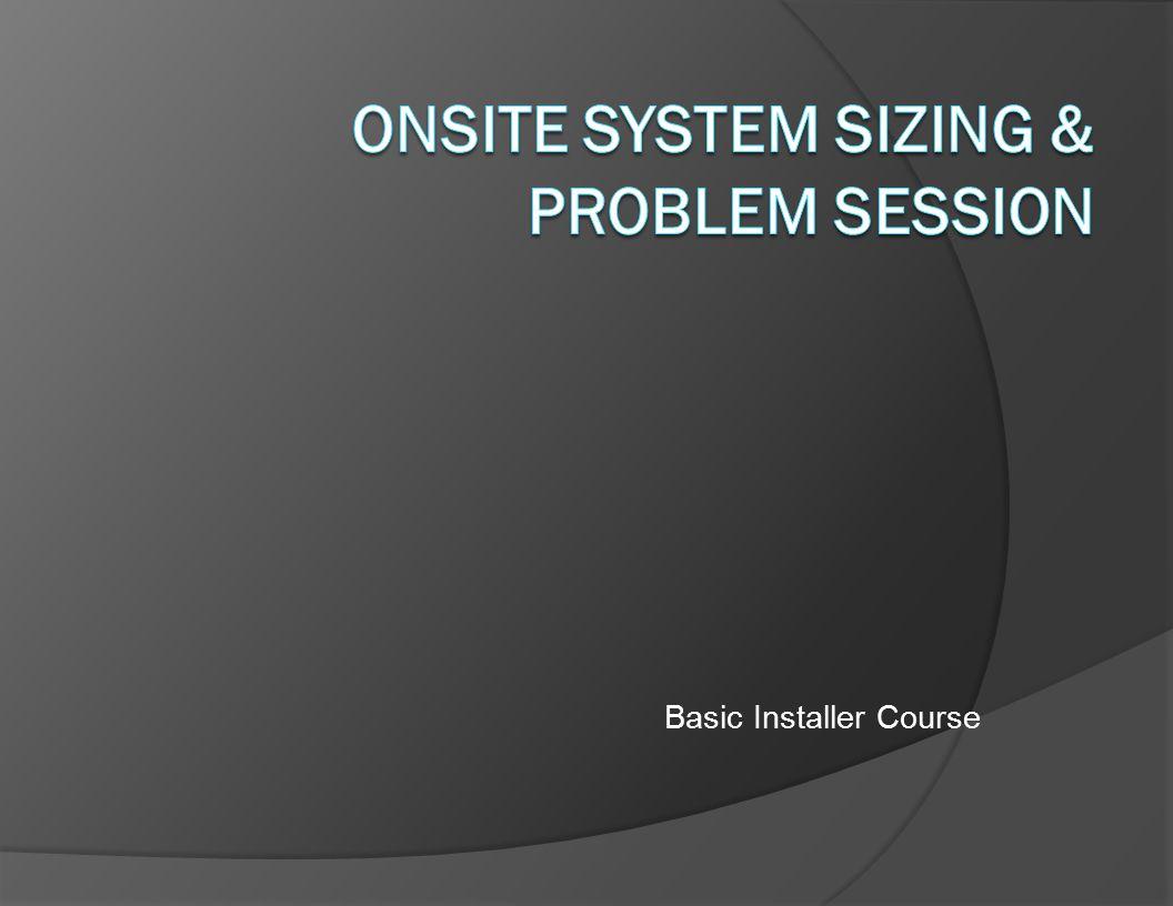 Basic Installer Course