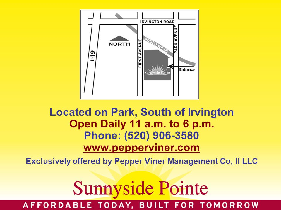Located on Park, South of Irvington Open Daily 11 a.m.